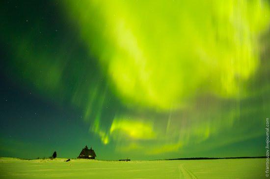 Northern Lights (Aurora Borealis) in the sky over Karelia, Russia photo 17