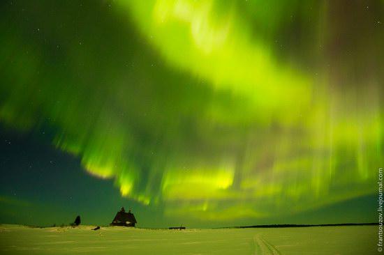 Northern Lights (Aurora Borealis) in the sky over Karelia, Russia photo 18