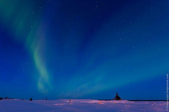 Northern Lights (Aurora Borealis) in the sky over Karelia, Russia photo 2