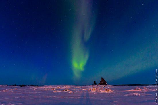 Northern Lights (Aurora Borealis) in the sky over Karelia, Russia photo 3