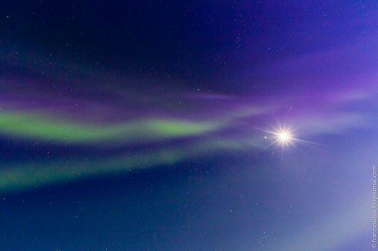 Northern Lights (Aurora Borealis) in the sky over Karelia, Russia photo 4