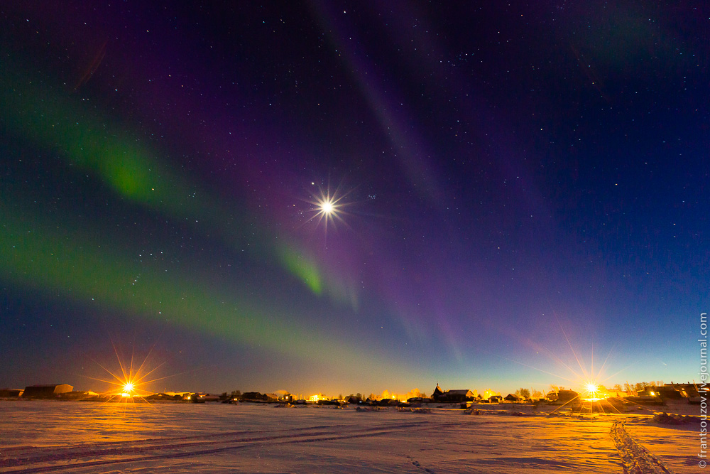 Northern Lights in the sky over Karelia · Russia travel blog