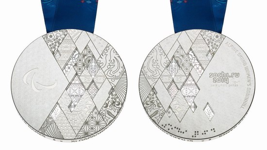 Silver medal of the Winter Paralympic Games 2014 in Sochi, Russia