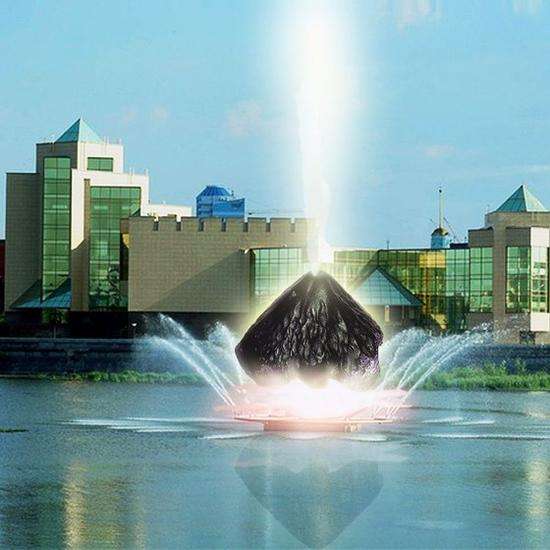 Falling meteorite fountain - Chelyabinsk meteorite monument