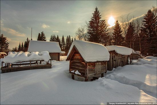 Khanty people cabins in winter, Russia photo 3