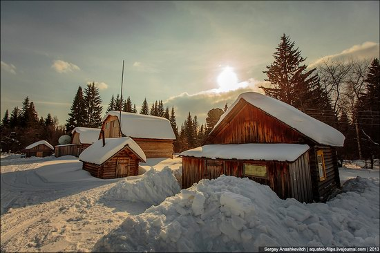 Khanty people cabins in winter, Russia photo 4