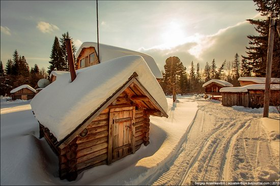 Khanty people cabins in winter, Russia photo 5