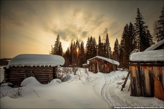 Khanty people cabins in winter, Russia photo 6