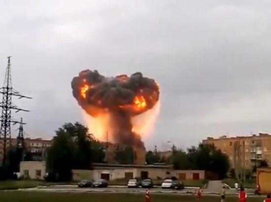 Explosions at military training ground in Samara region, Russia