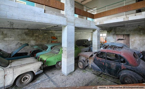 Abandoned Summer Camp with Retro Cars, Moscow region, Russia