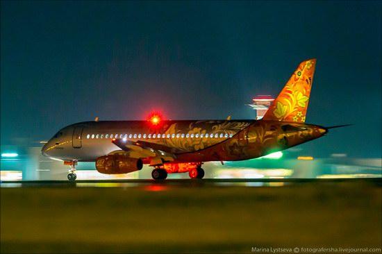 Plane painted in Khokhloma style, Aeroflot, Russia photo 10