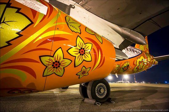 Plane painted in Khokhloma style, Aeroflot, Russia photo 7