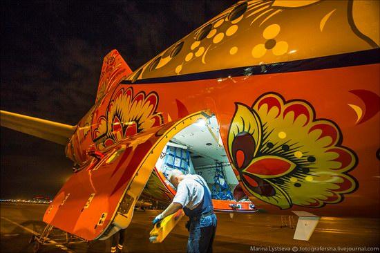 Plane painted in Khokhloma style, Aeroflot, Russia photo 8