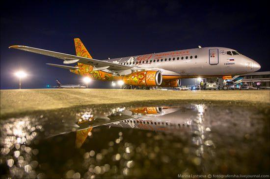 Plane painted in Khokhloma style, Aeroflot, Russia photo 9