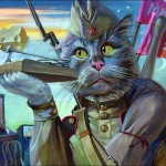 """Epical Cats"" of Painter Alexander Zavaly"