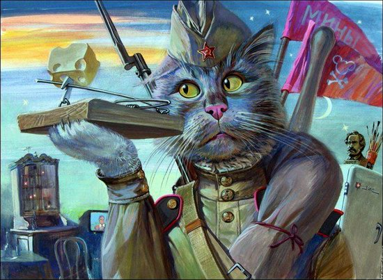 """Epical Cats"" of Painter Alexander Zavaly picture 1"