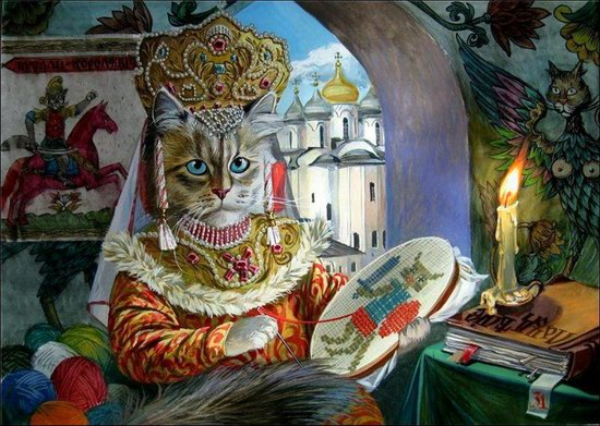 """Epical Cats"" of Painter Alexander Zavaly picture 3"
