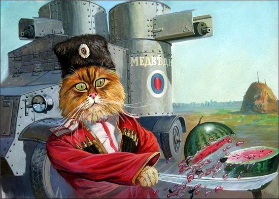 """Epical Cats"" of Painter Alexander Zavaly picture 5"