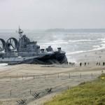 Soviet Military Hovercraft Invading Peaceful Beach