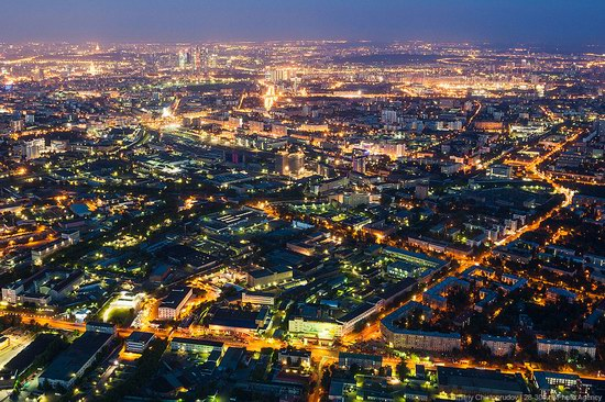 Moscow from Ostankino TV tower top, Russia photo 1