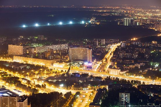 Moscow from Ostankino TV tower top, Russia photo 13