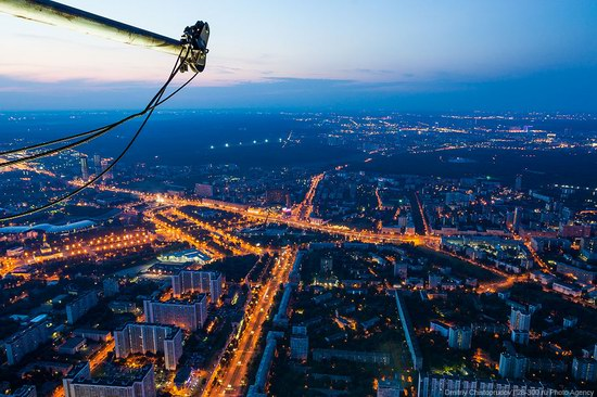 Moscow from Ostankino TV tower top, Russia photo 8