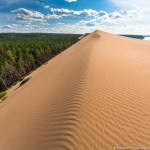 Sand dunes in the middle of Siberia