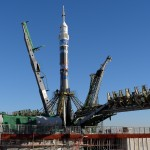 """Soyuz"" Spacecraft with a Torch of ""Sochi-2014"" Olympics"