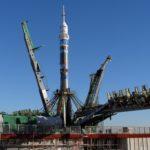 """Soyuz"" Spacecraft with a Torch of ""Sochi-2014"" Olympics"