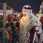 Chief Russian Father Frost visiting Samara
