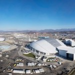 Aerial views of Sochi Olympic venues and infrastructure