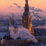 Smoke City – Saint Petersburg on a frosty day