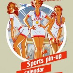 Soviet sports pin-up calendar 2014