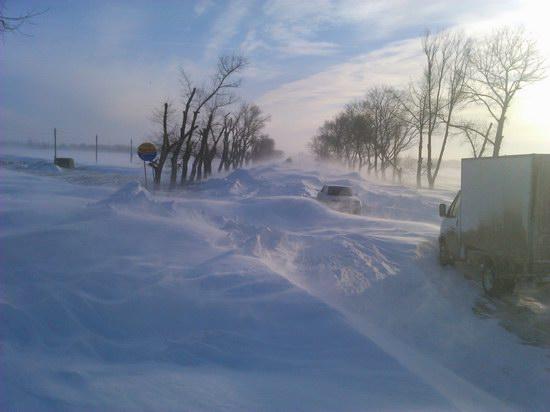Snow apocalypse in Rostov region, Russia, photo 1