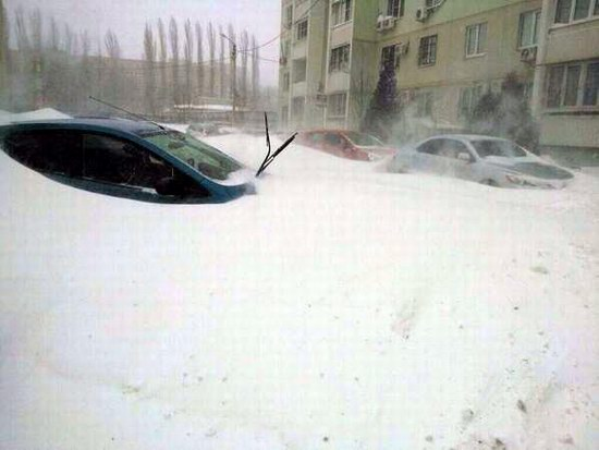 Snow apocalypse in Rostov region, Russia, photo 12