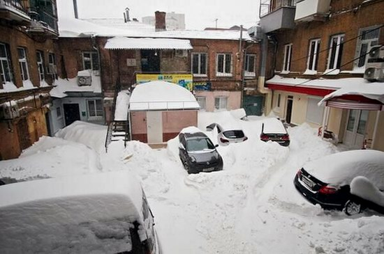 Snow apocalypse in Rostov region, Russia, photo 2