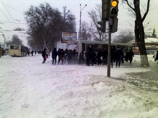 Snow apocalypse in Rostov region, Russia, photo 3