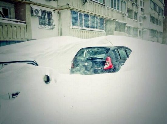 Snow apocalypse in Rostov region, Russia, photo 5