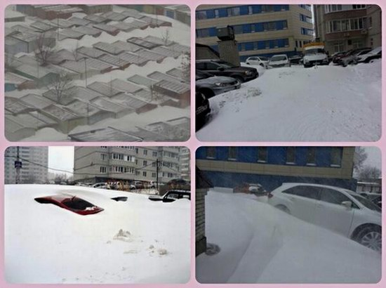 Snow apocalypse in Rostov region, Russia, photo 6