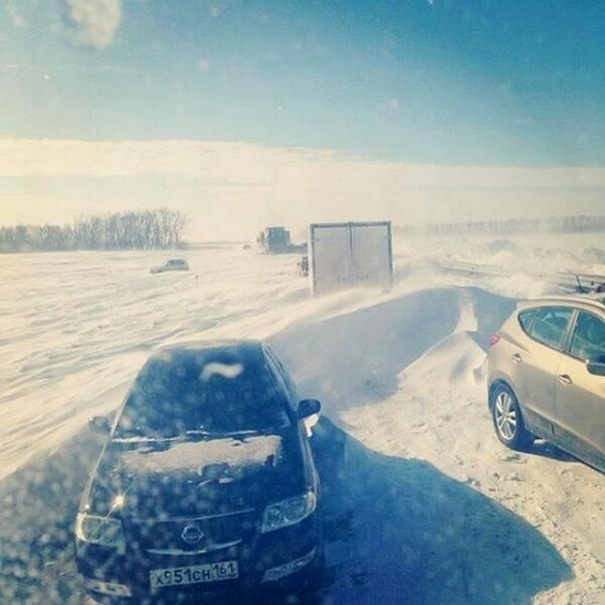 Snow apocalypse in Rostov region, Russia, photo 7