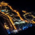 The Mountain Cluster of the Sochi Olympics at night