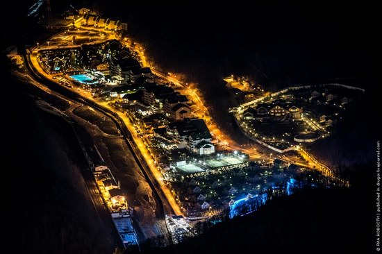 Sochi 2014 Mountain Cluster at night, photo 1