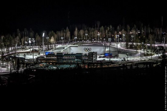 Sochi 2014 Mountain Cluster at night, photo 2
