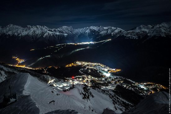 Sochi 2014 Mountain Cluster at night, photo 5