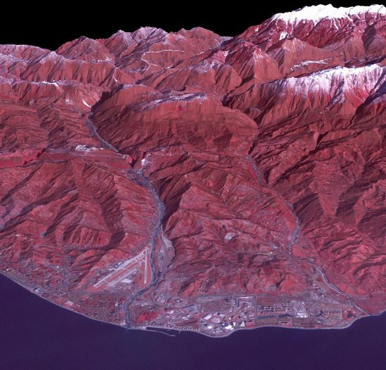 Sochi Olympic Park - space view