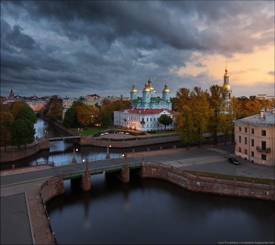 St. Nicholas Naval Cathedral in Saint Petersburg, Russia