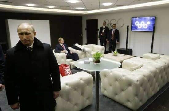 What happens when Putin is not watching the Games, photo 1
