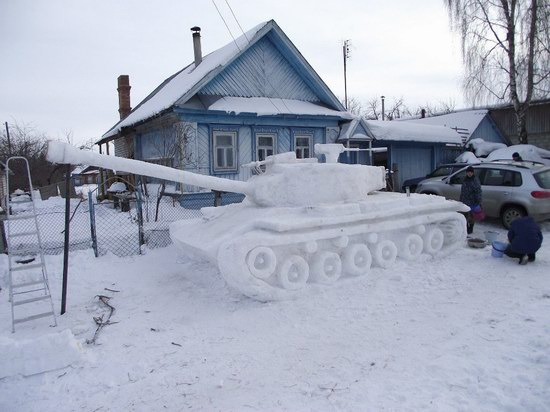 Cool snow tank, Russia