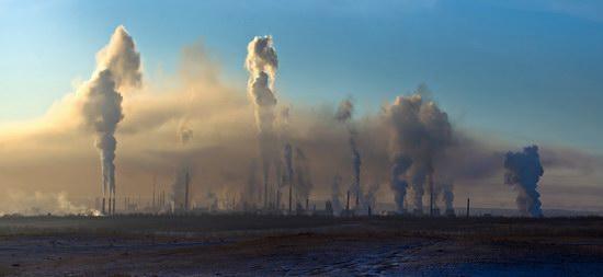 Industrial city Novotroitsk, Russia