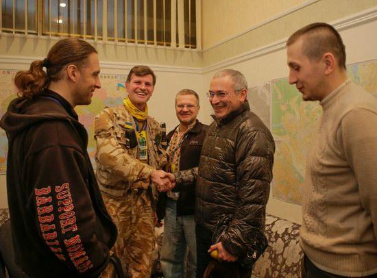 Mikhail Khodorkovsky on the Maidan, Kyiv, Ukraine, photo 2